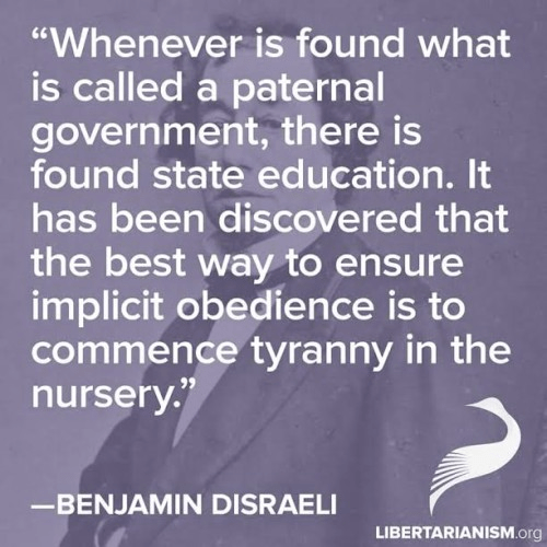 Benjamin Disraeli commence tyranny in the nursery