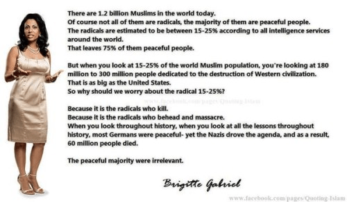 Brigette Gabriel explains why a small minority of Muslims is so dangerous