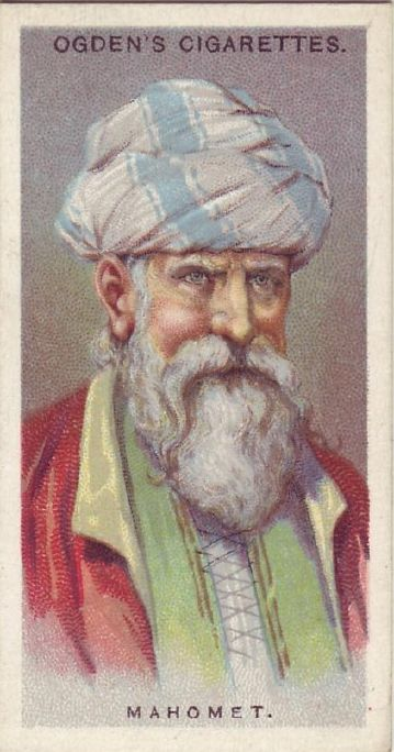 Early 20th century cigarette card of Mohamed