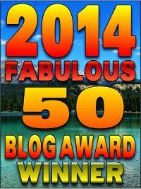 Fabulous 50 blog award winner