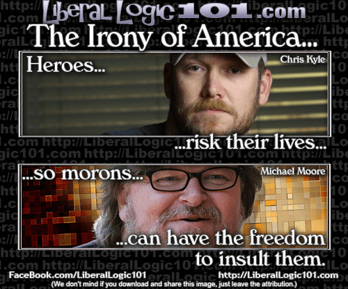 Heroes risk their lives so morons can have freedom