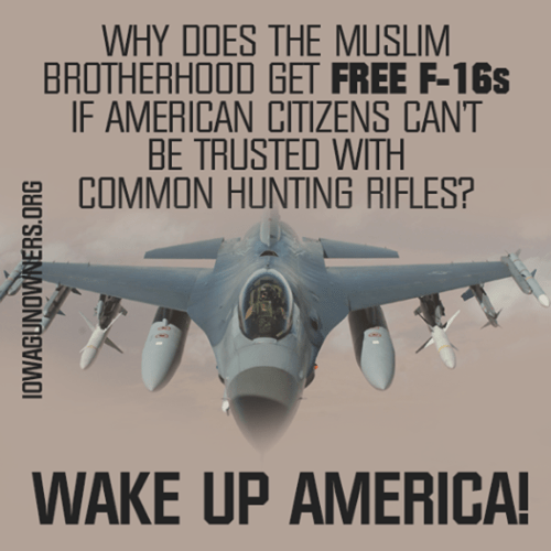 Muslim Brotherhood gets F16s and Americans can't keep their guns