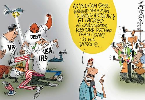Nobody rescues Uncle Sam as government attacks him