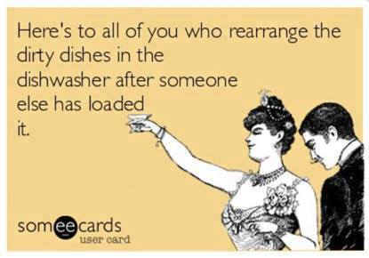 Rearranging dishes in dishwasher