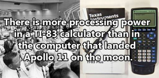 Student calculator has more processing power than NASA did in 1960s