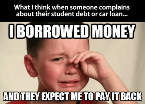 Student loan cry babies