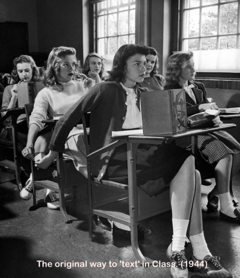 Texting in class 1944