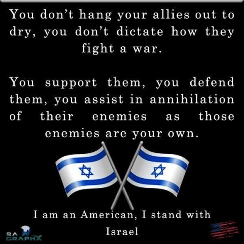 American stands with Israel