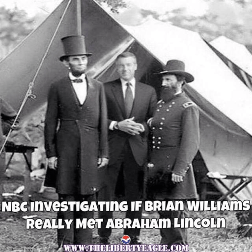 Brian Williams and Abraham Lincoln