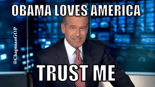 Brian Williams promises Obama loves America