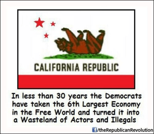 Democrats destroyed California
