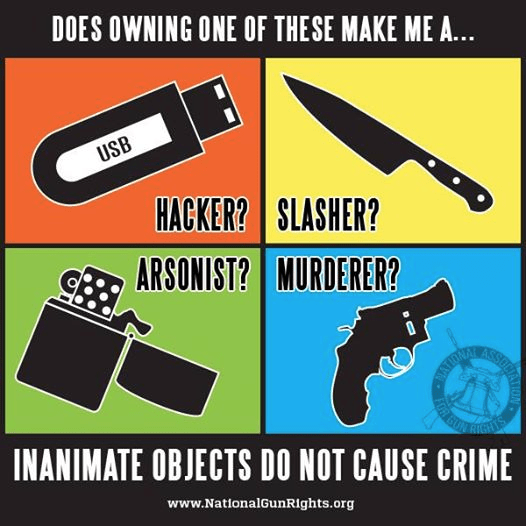 Inanimate objects do not cause crime