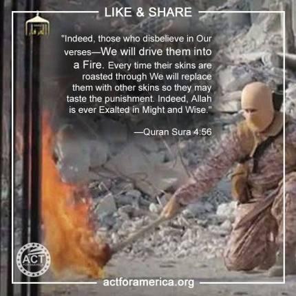 Koran demands that people be burned to death