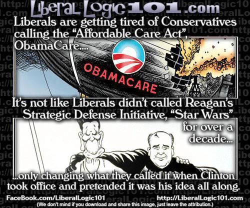 Liberals Obamacare and Star Wars