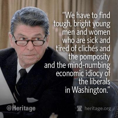 Reagan looking for young people