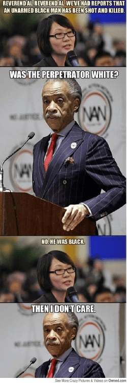 Sharpton doesn't care about blacks killed by blacks