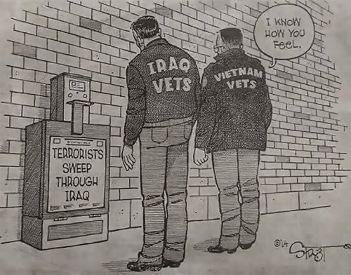 Democrats screw Iraq vets the way they did Vietnam vets