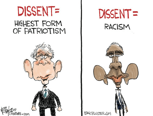 Dissent patriotism and racism Bush and Obama