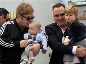 Elton John and Babies
