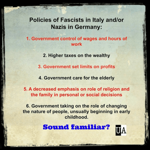 Fascists always have same agenda