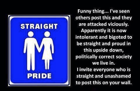 Get attacked for straight pride