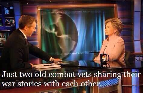 Hillary and Brian Williams