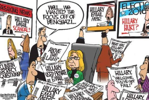 Hillary email serve distracts from Benghazi