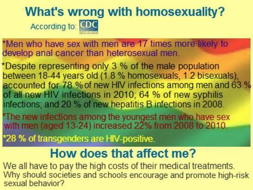 Homosexuality is dangerous to your health