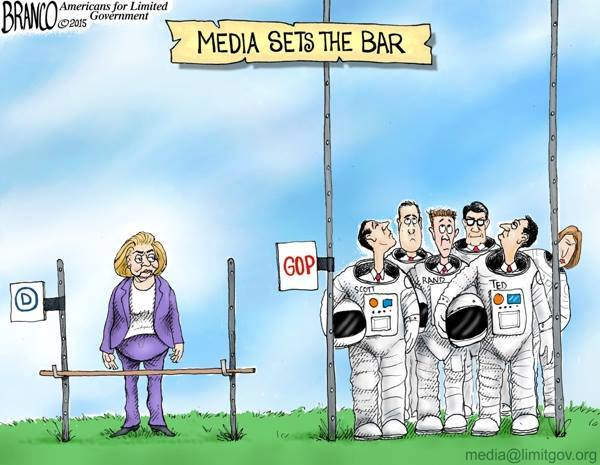 Media sets the bar on Hillary and GOP