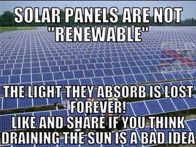 Nonrenewable solar power