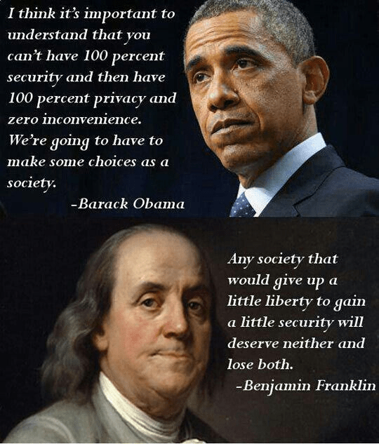 Obama and Franklin on liberty and security