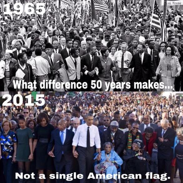 Selma changed in 50 years -- no American flags