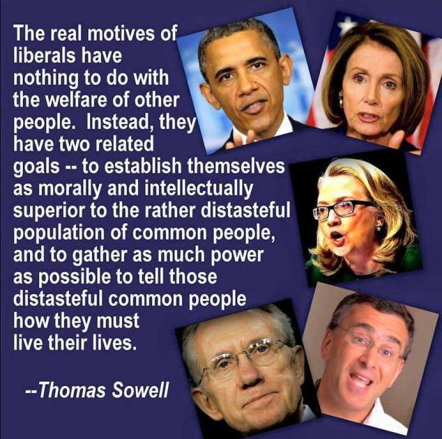 Sowell on real motives of liberals