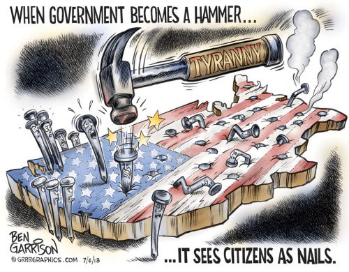 When government is a hammer, its citizens are nails