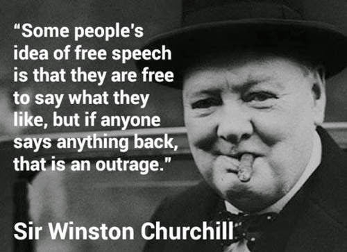 Winston Churchill free speech