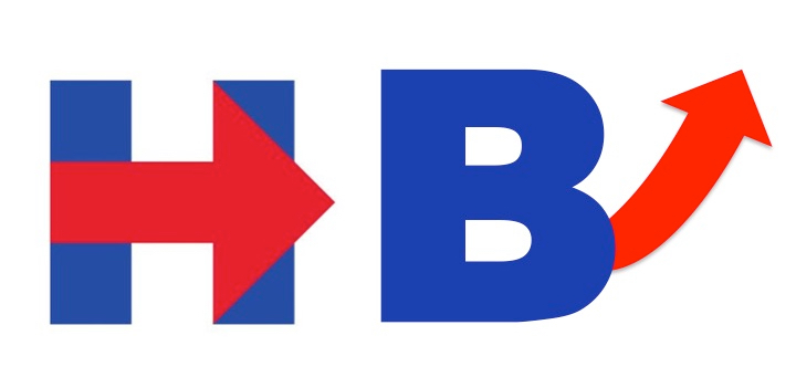 Bill and Hillary campaign logos
