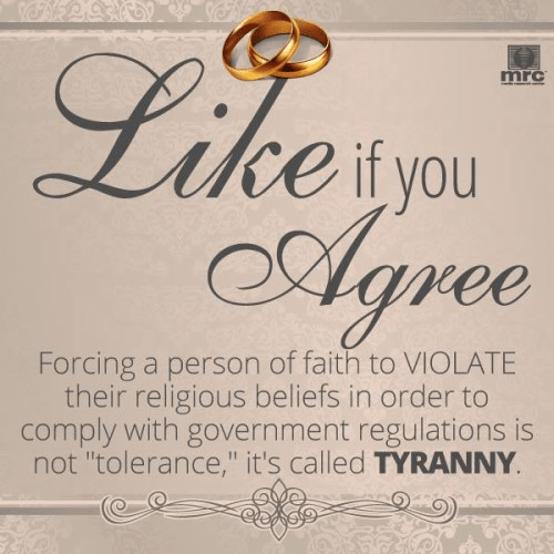 Forcing people to violate religious beliefs is tyranny