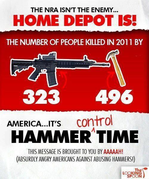 Home Depot more dangers than NRA and guns