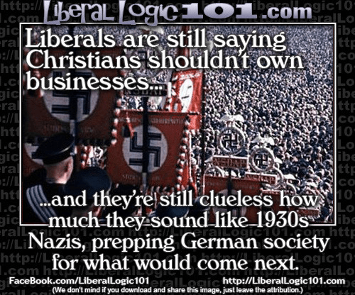 Liberals Christians Nazis