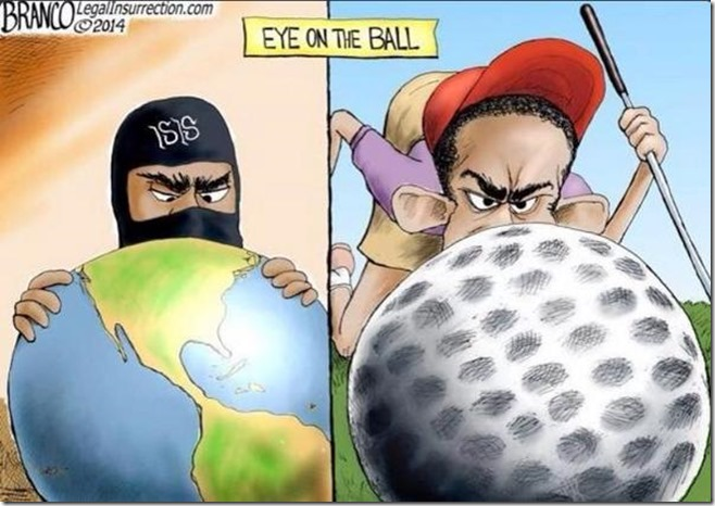 Obama ISIS eye on the ball