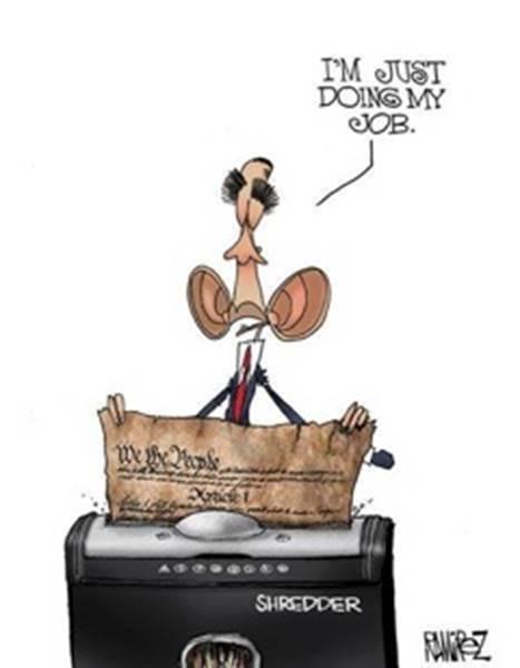 Obama shreds constitution