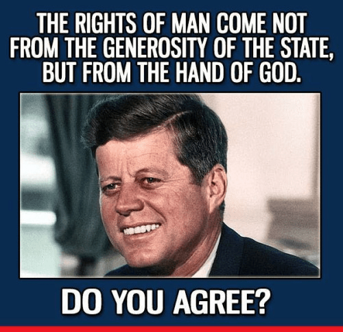 Rights from creator not state Kennedy