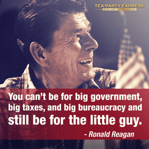 Ronald Reagan on Big Government and the Little Guy