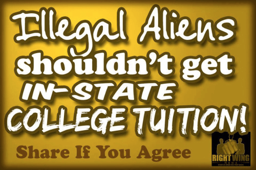 illegal aliens in-state tuition