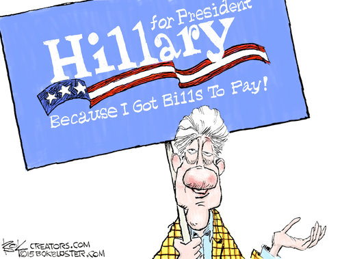 Bill Hillary Clinton Bills to Pay