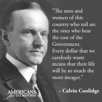 Coolidge on the cost of government