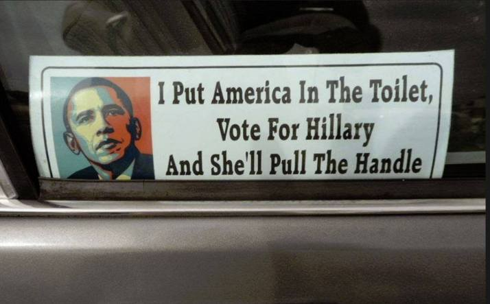 Democrats Toilet Obama Hillary