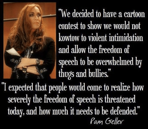 Geller on free speech