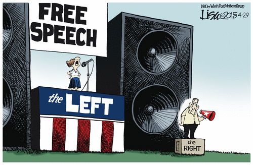 Left and Right free speech