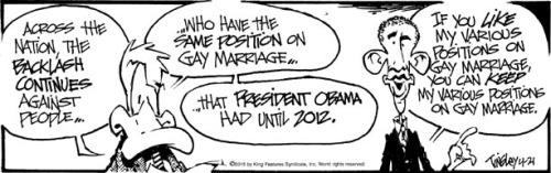 Obama positions on gay marriage